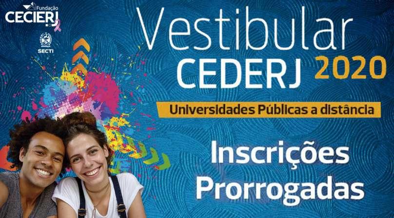 Vestibular Cederj 2020.1 tem inscrições prorrogadas até 31 de outubro