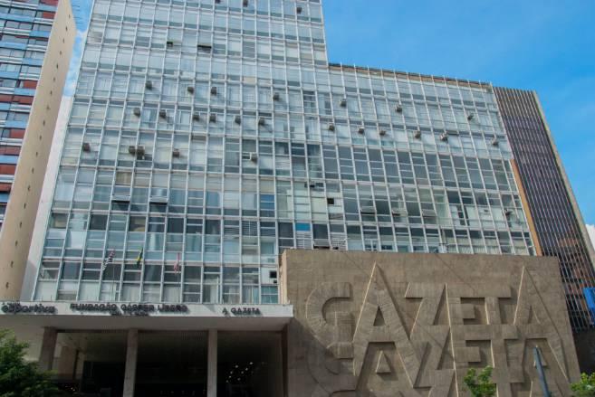 Fachada da Fundação Cásper Líbero Foto: Mariana Cavalcanti