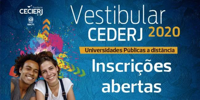 Inscrições do Vestibular Cederj 2020 vão até 24/10