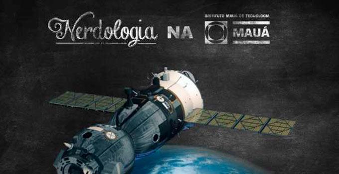 Atila Iamarino, do Nerdologia, esteve na Mauá para conversar sobre satélites!