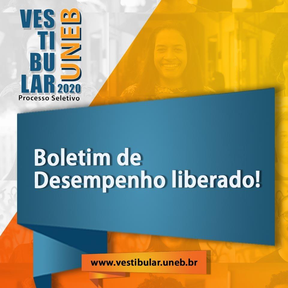 Vestibular UNEB 2020 libera Boletim de Desempenho dos candidatos