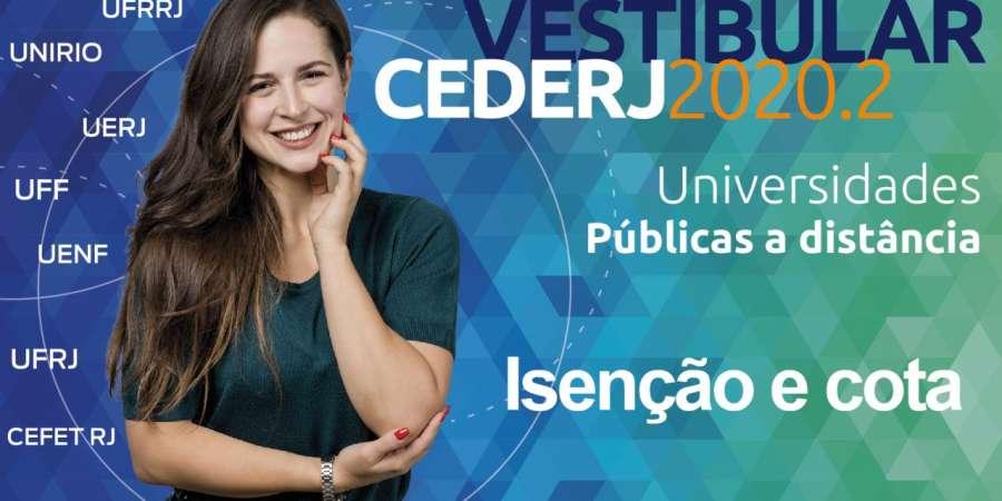 Vestibular Cederj 2020.2 recebe pedidos de isenção e sistema de cotas