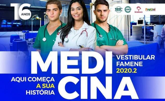 Vestibular de Medicina FAMENE 2020.2 recebe inscrições