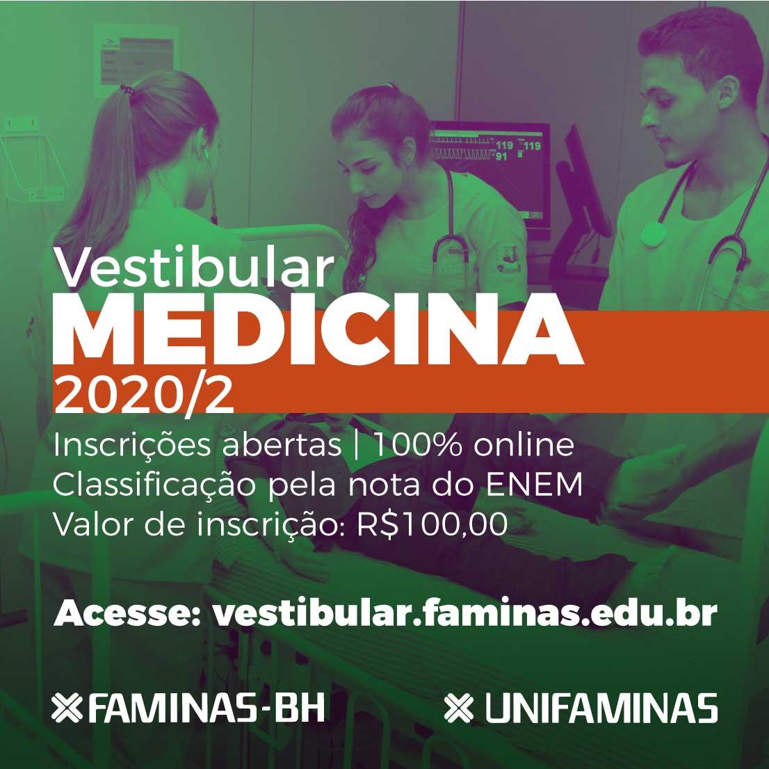 Vestibular de Medicina FAMINAS 2020/2