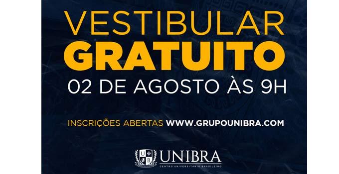 Unibra inscreve para o último vestibular 2020.2