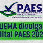 PAES UEMA 2021 - Confira o Edital com todas as informações