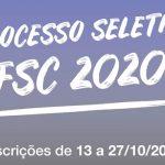 Inscrições abertas para o Vestibular 2020.2 da UFSC
