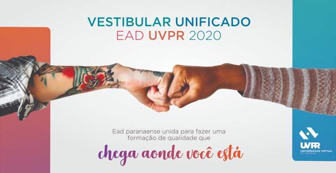 Inscrições do Vestibular EaD UVPR 2020 vão até 15/10