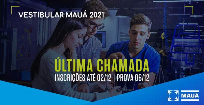 O Vestibular Mauá tem duas opções de ingresso: Prova On-line e Certificação Internacional. Inscreva-se até 02/12!