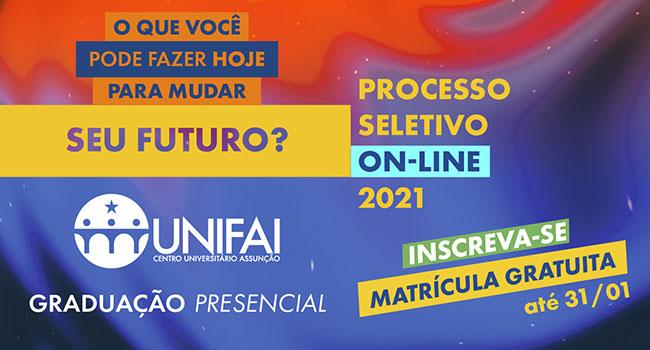 Vestibular do Centro Universitário Assunção - UNIFAI 2021