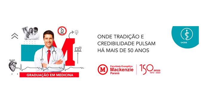 Inscrições abertas do Vestibular de Medicina na Faculdade Evangélica Mackenzie do Paraná (FEMPAR)