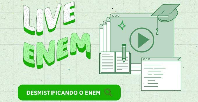 USF promove live Desmistificando o ENEM - 12/01 - 19h