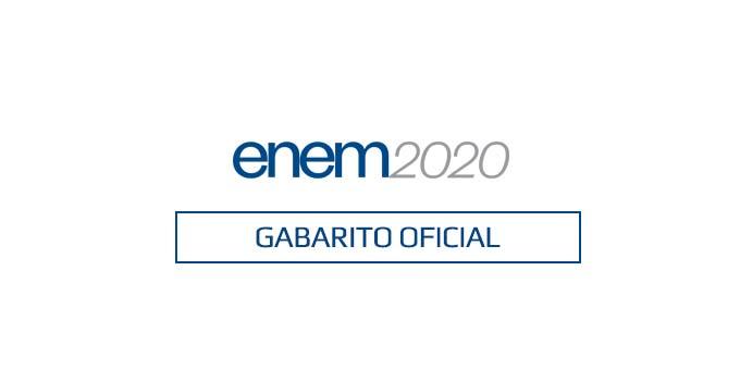 Gabarito Enem 2020 1º dia - Caderno Branco