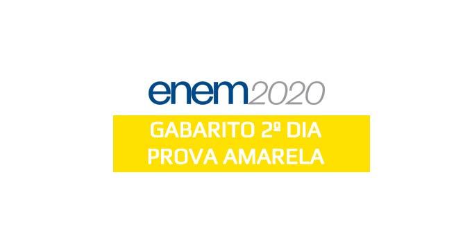 Confira o gabarito extraoficial do 2º dia do Enem 2020 - Prova Amarela, aplicada em 24 de janeiro de 2021, com a resolução do Curso Objetivo.