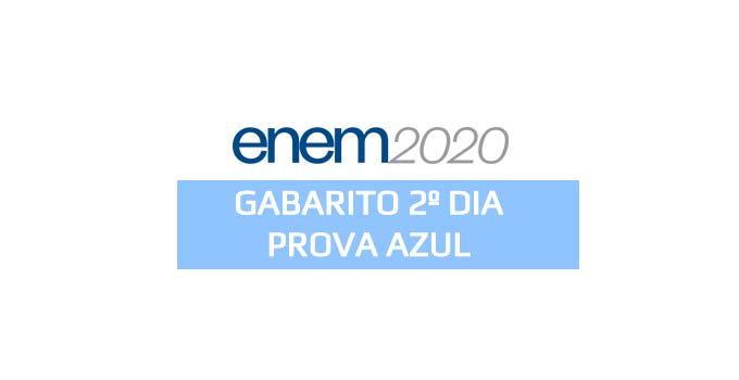 Gabarito extraoficial Enem 2020 - 2º dia - Prova Azul