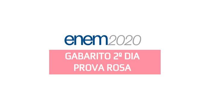 Gabarito extraoficial Enem 2020 - 2º dia - Prova Rosa