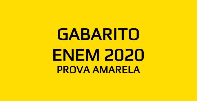 Confira o gabarito extraoficial do Enem 2020 - Prova Amarela, aplicada em 17 de janeiro de 2021, com a resolução do Curso Objetivo.