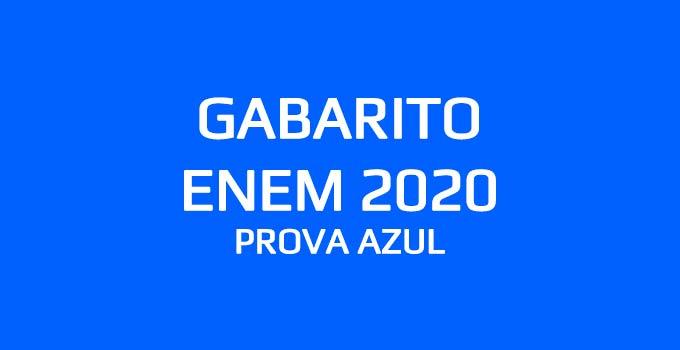 Confira o gabarito extraoficial do Enem 2020 - Prova Azul, aplicada em 17 de janeiro de 2021, com a resolução do Curso Objetivo.