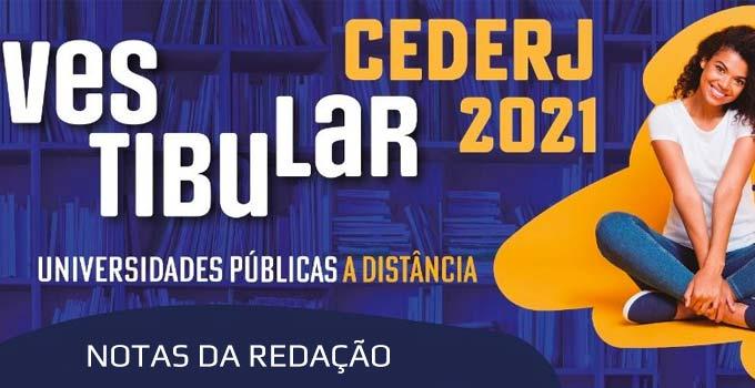 Resultado da prova de Redação - Vestibular Cederj 2021.1