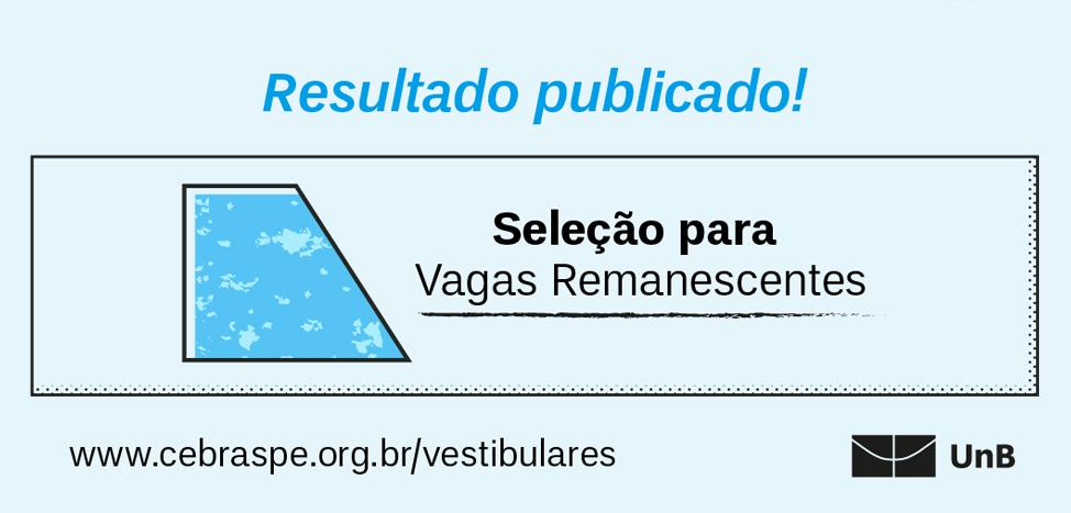Resultado do Vestibular UnB de Vagas Remanescentes - 2020/2