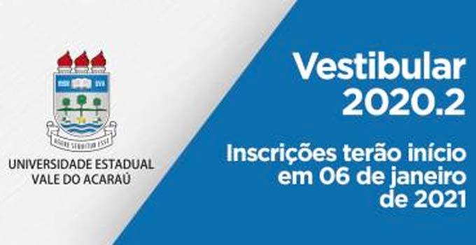 Vestibular UVA 2020.2 abre inscrições. Veja como se inscrever!