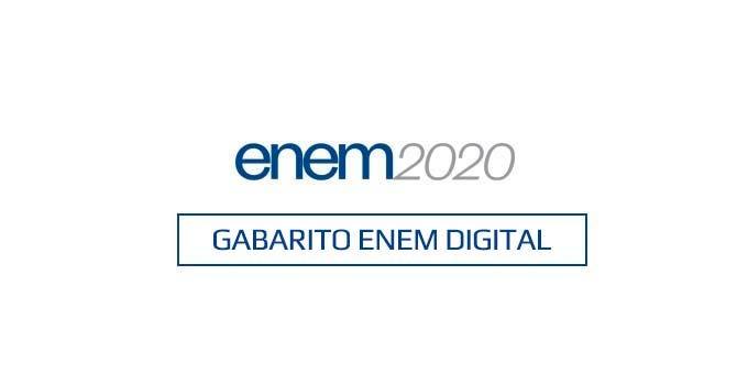 Gabarito Enem Digital 2020 - 2º dia - Prova 07/02/2021