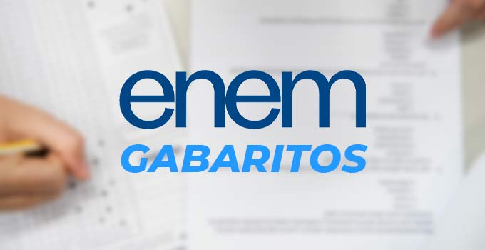 Gabarito oficial - Enem Digital 2020 - Provas 31/1 e 7/2/21
