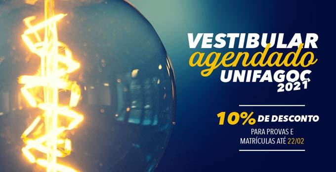 Inscrições abertas para o Vestibular Agendado UNIFAGOC 2021