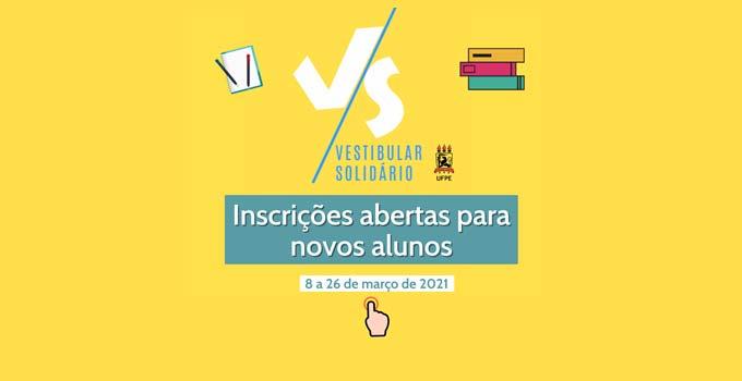 Inscrições abertas para o Pré-Vestibular Solidário da UFPE