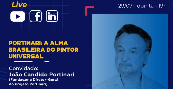 Filho de Candido Portinari é o convidado de live da UNIP