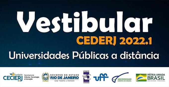 Vestibular Cederj 2022.1 está com as inscrições abertas